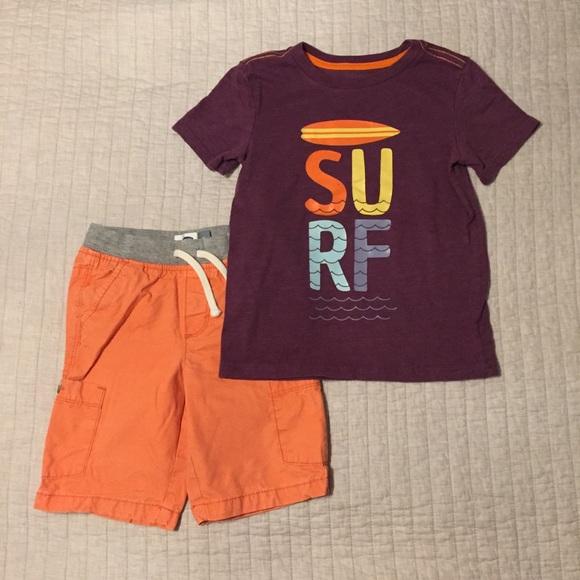 Cat & Jack Other - Orange & Purple Surf Outfit